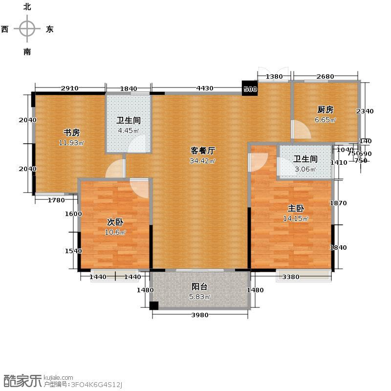 广宇上东城107.96㎡上东臻品5、7号楼11#B偶数户型10室
