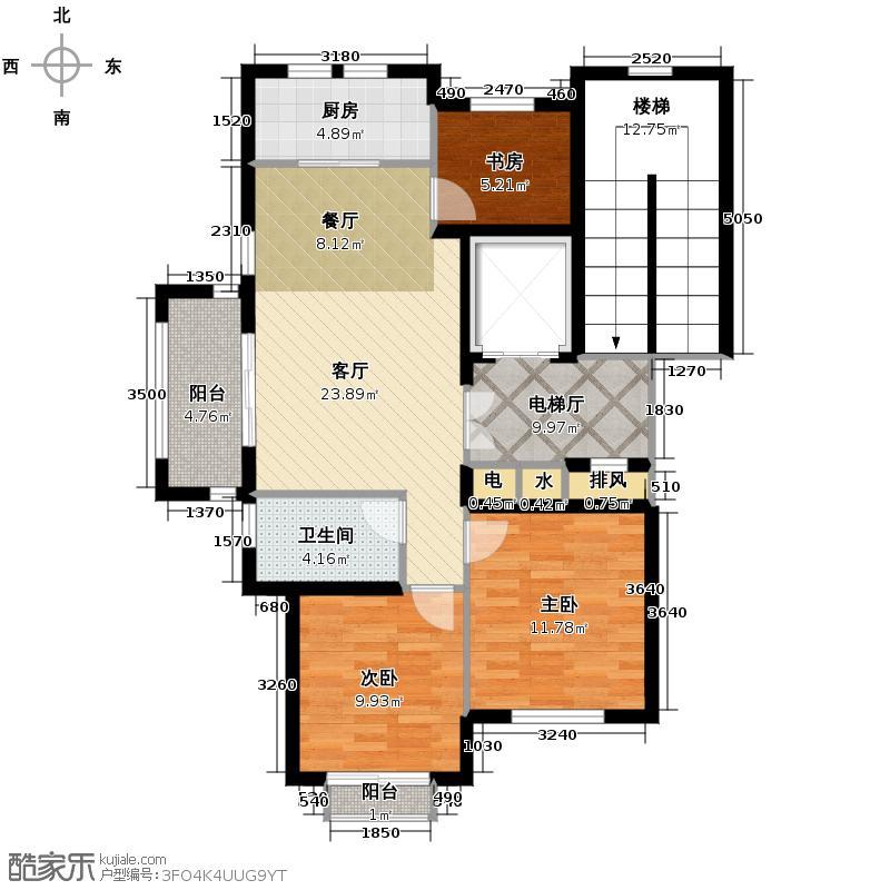 德信泊林印象90.00㎡平层S-4户型3室1厅1卫1厨