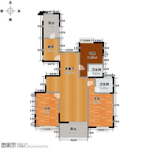 梦琴湾3室1厅2卫1厨154.00㎡户型图