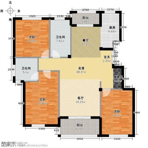 金溪园3室0厅2卫0厨138.00㎡户型图
