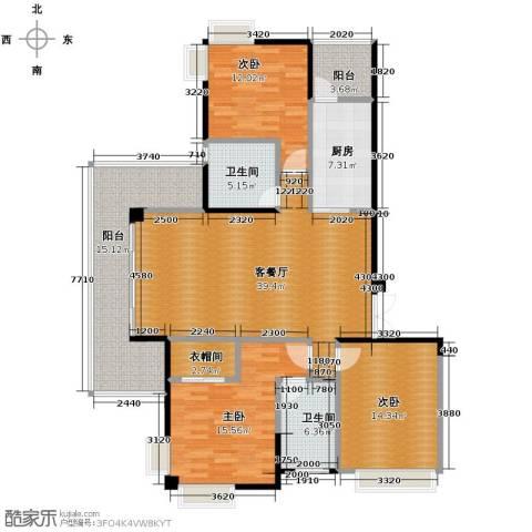 梦琴湾3室0厅1卫1厨86.18㎡户型图