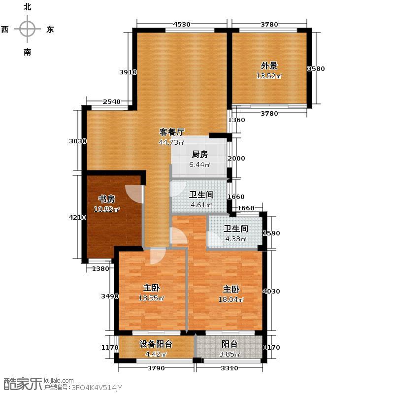 通和府尚公馆138.00㎡C标准层-奇数户型3室1厅2卫