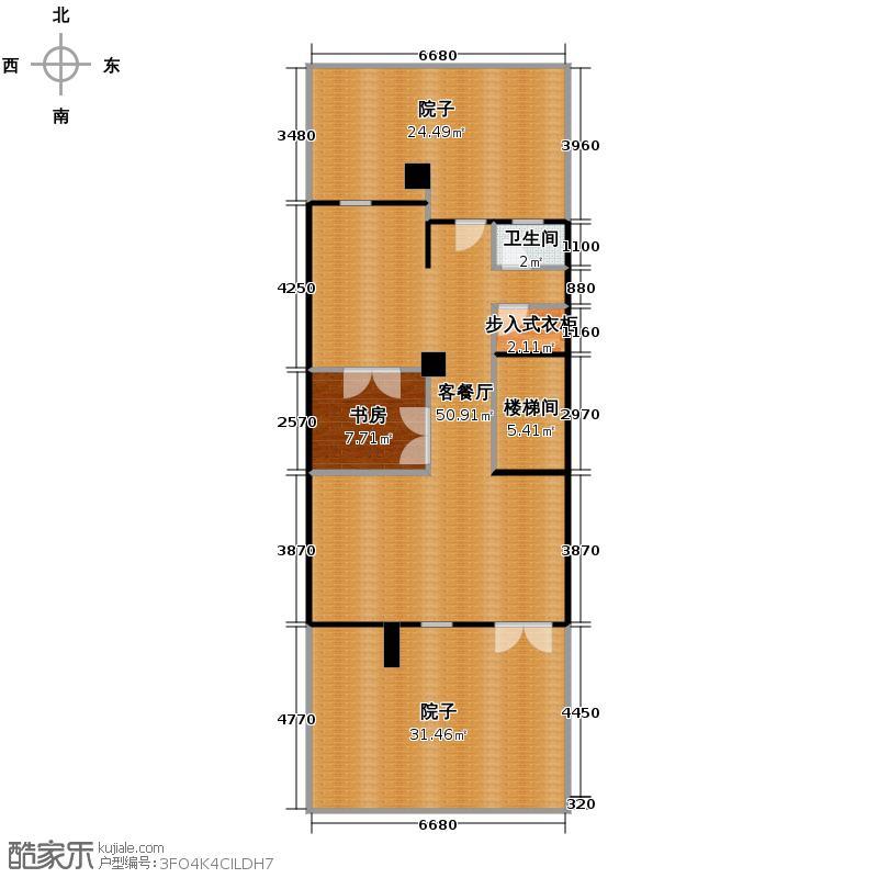 擎天半岛排屋226.00㎡悦墅B-一层户型1室1厅1卫