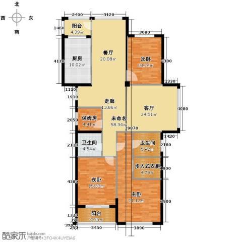 绿都四季华庭3室0厅2卫1厨141.70㎡户型图