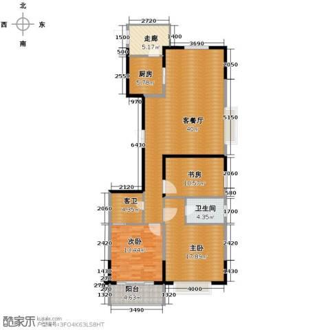 云龙十一景3室1厅1卫1厨147.00㎡户型图