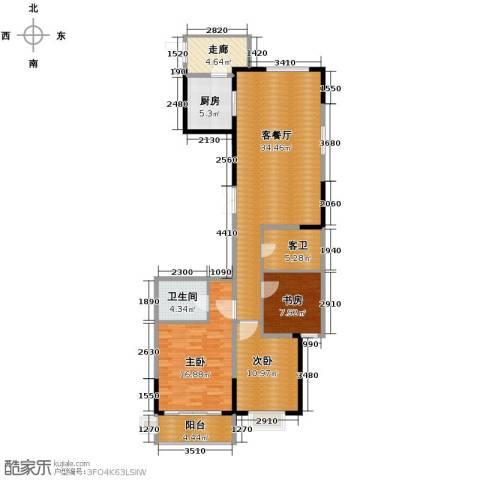 云龙十一景3室1厅1卫1厨132.00㎡户型图