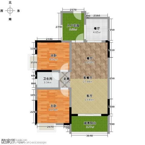 钱塘航空大厦2室2厅1卫0厨142.00㎡户型图