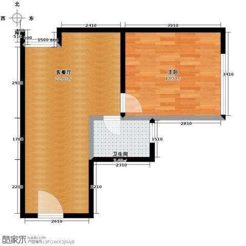 新城市广场1室1厅1卫0厨40.00㎡户型图