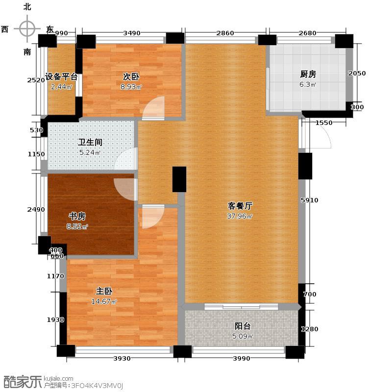 宋都阳光国际128.00㎡二期C5-b户型3室1厅1卫1厨