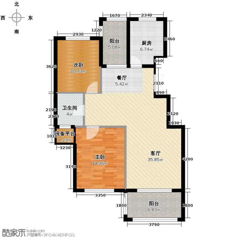 金溪园104.60㎡A户型2室1厅1卫1厨