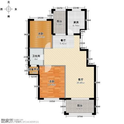 金溪园2室1厅1卫1厨105.00㎡户型图
