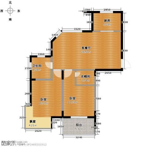 蚕桑西苑1厅1卫1厨72.19㎡户型图