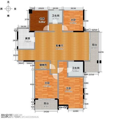 上东名筑4室1厅2卫1厨178.00㎡户型图