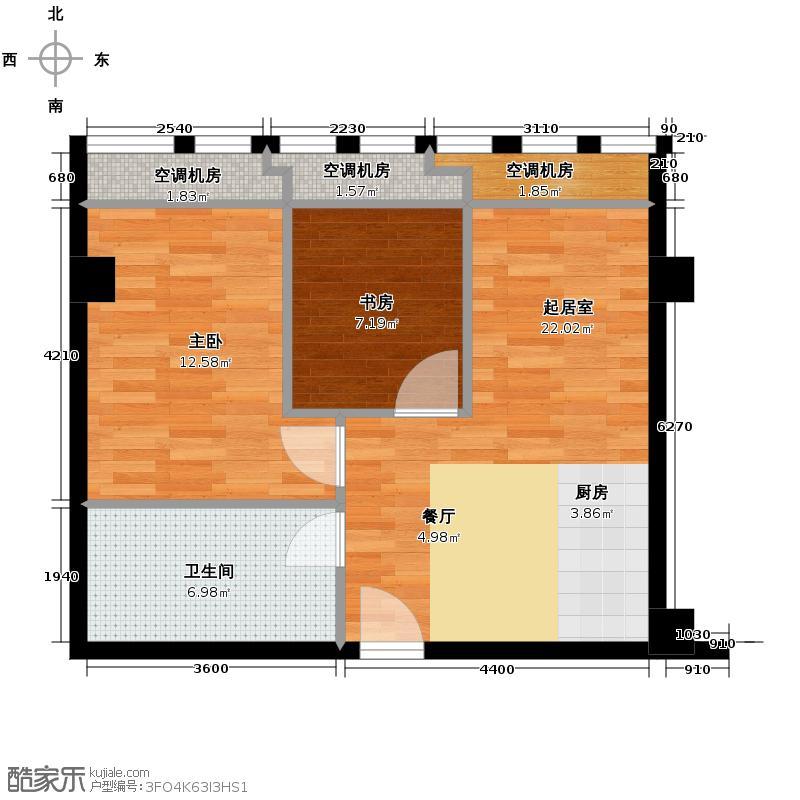 龙申剑桥公社80.00㎡户型2室1卫