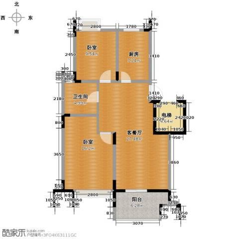 蚕桑西苑1厅1卫1厨71.71㎡户型图