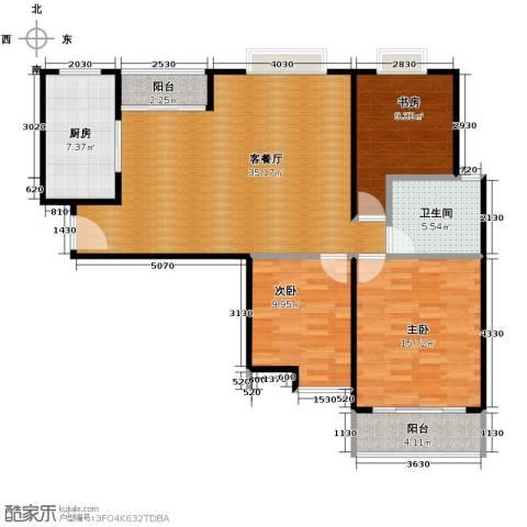 海天公寓3室1厅1卫1厨124.00㎡户型图