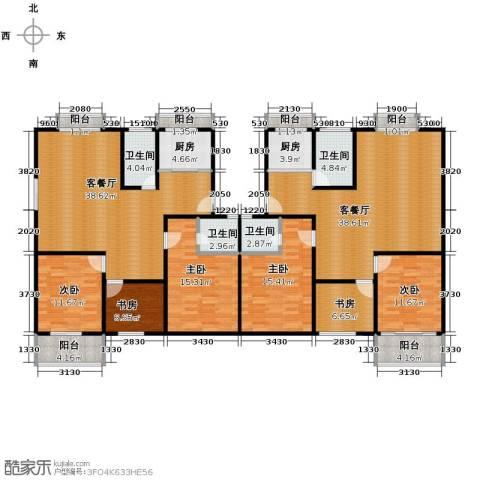 宋都梅苑人家6室2厅4卫2厨180.76㎡户型图