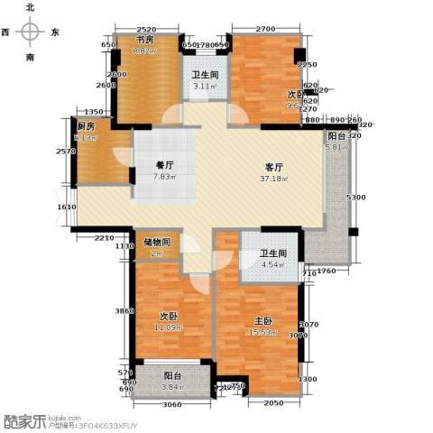 上东领地4室1厅2卫1厨149.00㎡户型图