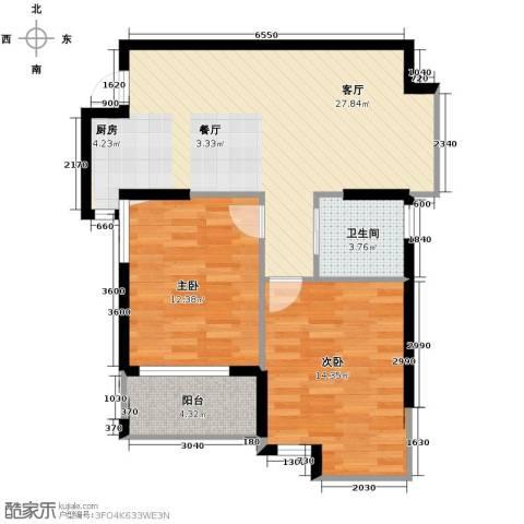 上东领地2室1厅1卫0厨87.00㎡户型图