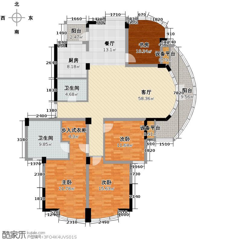 绿城风华苑191.00㎡户型4室1厅2卫