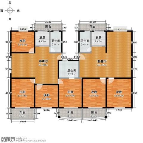 宋都梅苑人家6室2厅3卫2厨205.66㎡户型图
