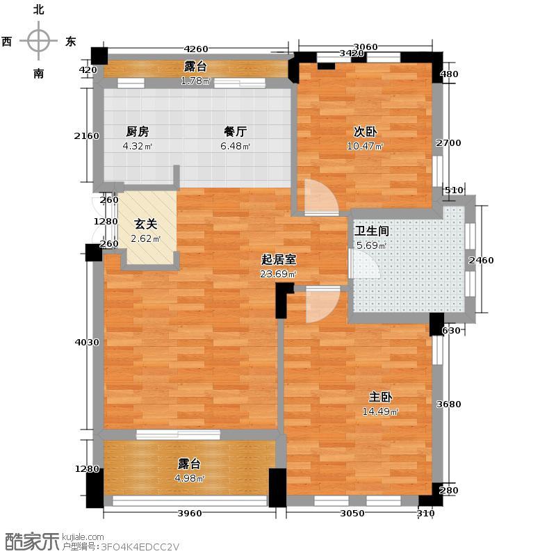戈雅卡斯提亚81.03㎡户型2室1卫