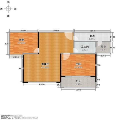 海天公寓2室1厅1卫1厨165.00㎡户型图
