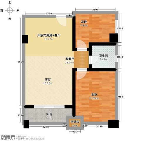 金沙居2室1厅1卫0厨75.00㎡户型图