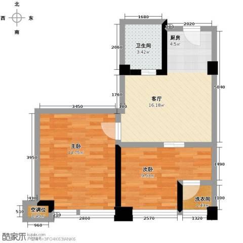 金沙居2室1厅1卫0厨67.00㎡户型图