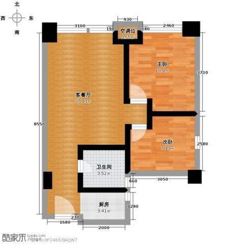 金沙居2室1厅1卫0厨72.00㎡户型图