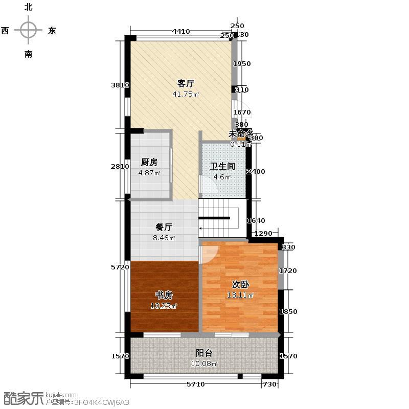和美家90.00㎡y1空间示范下层户型1室1厅1卫1厨