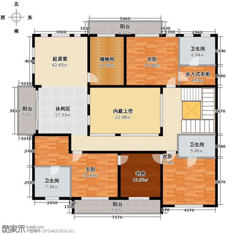 华元和庄231.50㎡b3二层户型4室3卫