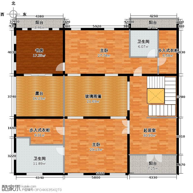 华元和庄209.43㎡b3三层户型3室2卫