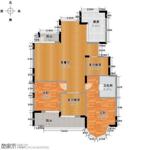山水人家2室1厅1卫1厨170.00㎡户型图