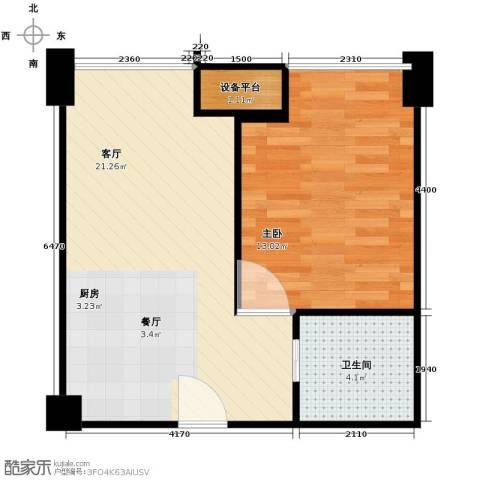 禧福汇1室1厅1卫0厨55.00㎡户型图