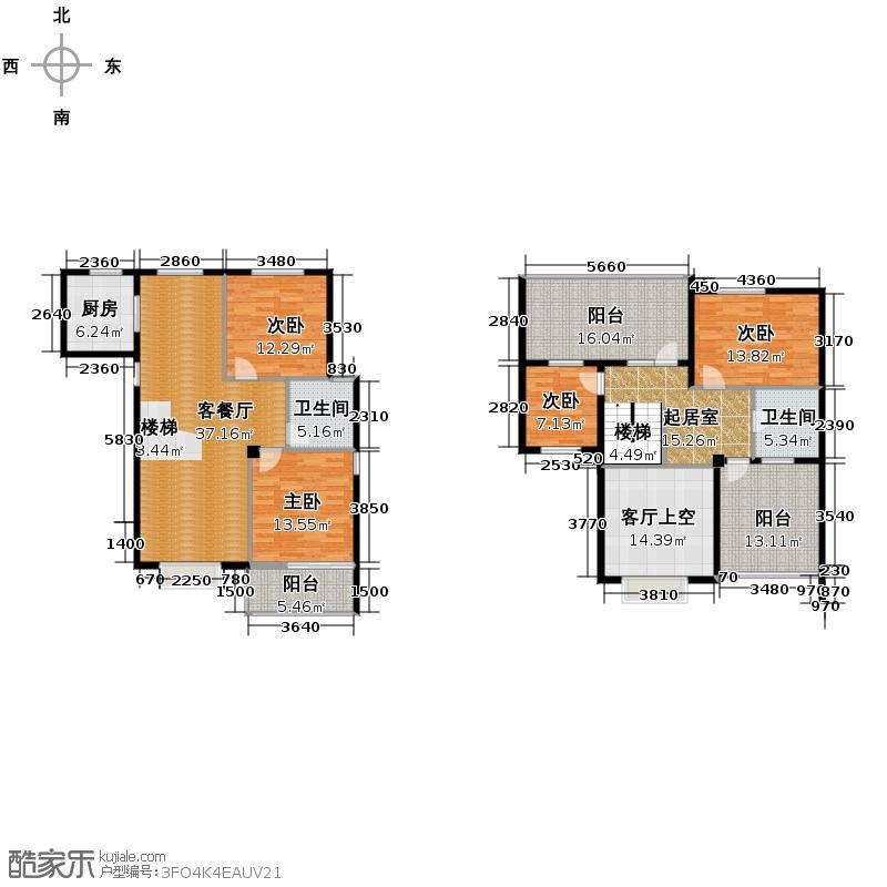 德意义和花园88.30㎡A侯爵(东)户型4室1厅2卫1厨