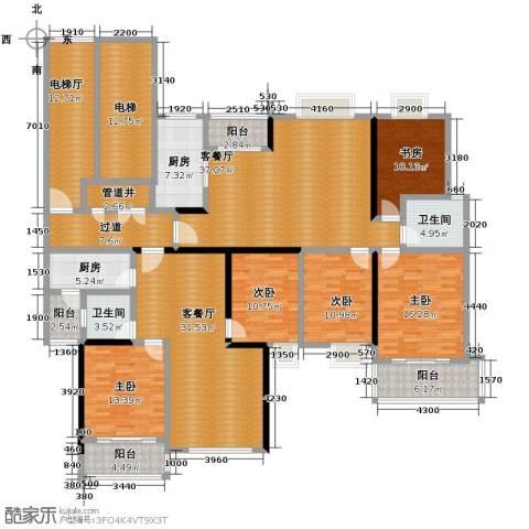 海天城5室2厅2卫2厨202.92㎡户型图