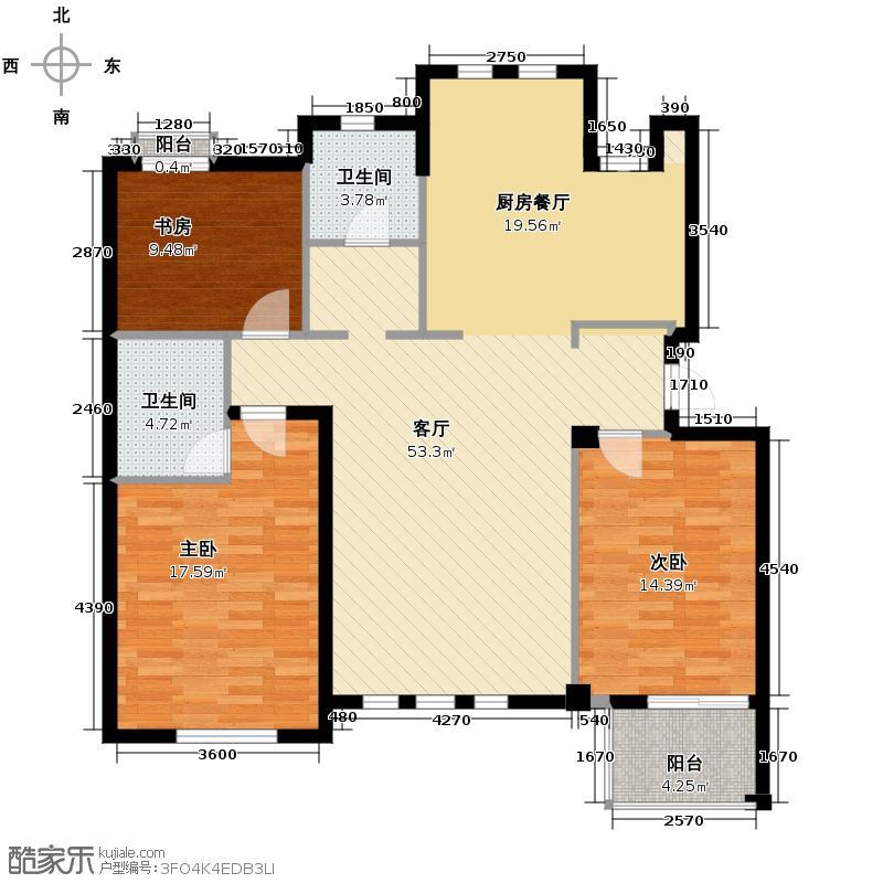 戈雅卡斯提亚119.96㎡户型3室1厅2卫