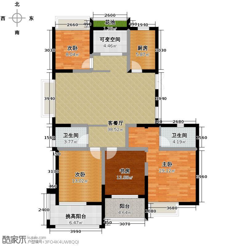 广宇上东城150.45㎡2号楼A正户型3室1厅2卫1厨