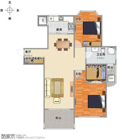 惠龙公寓2室1厅1卫1厨124.00㎡户型图