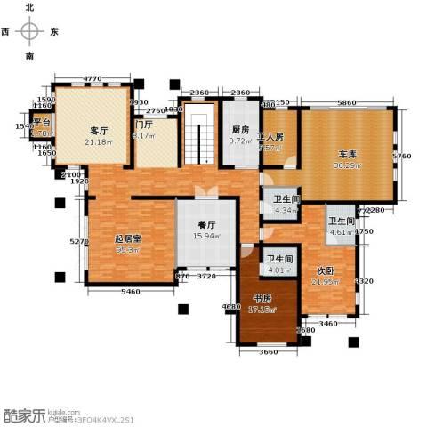 汀香别墅二期2室1厅3卫1厨402.00㎡户型图