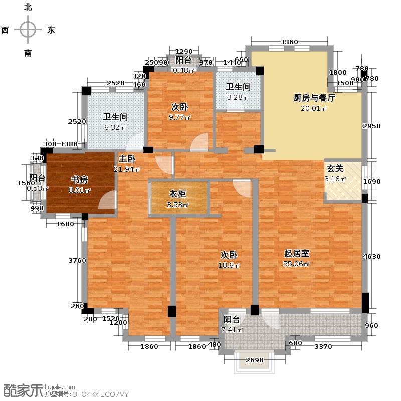 戈雅卡斯提亚151.60㎡户型4室2卫