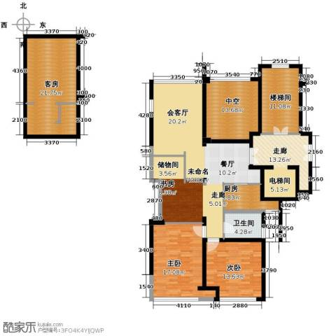 华鸿罗兰春天2室0厅1卫1厨142.59㎡户型图