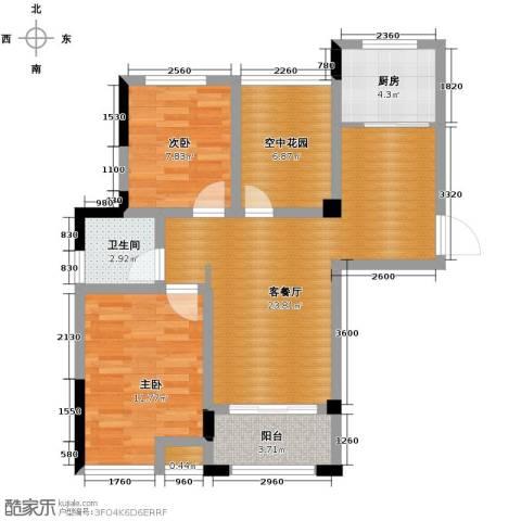 滨湖香江龙韵2室2厅1卫0厨91.00㎡户型图