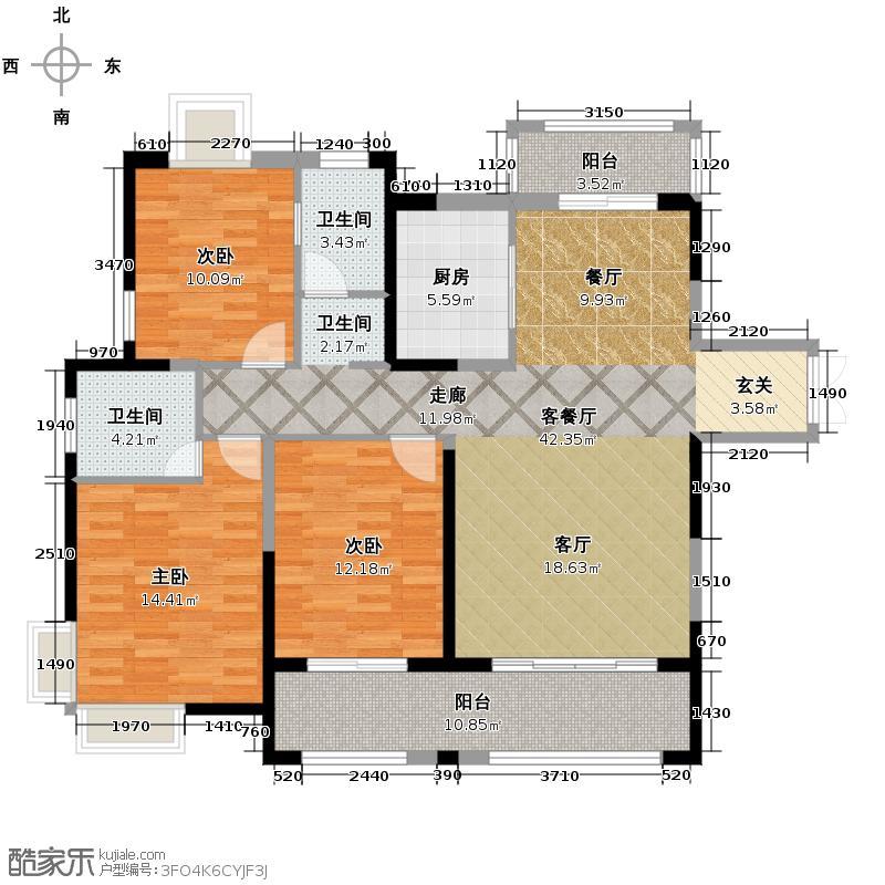 三盛托斯卡纳120.39㎡95#楼户型10室