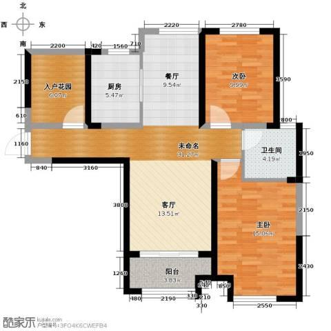 保利香槟国际2室2厅1卫0厨103.00㎡户型图
