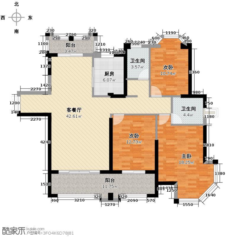三盛托斯卡纳129.23㎡户型10室