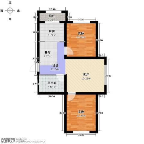 嘉惠红山郡2室2厅1卫0厨78.00㎡户型图
