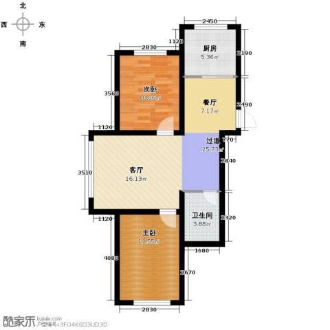 嘉惠红山郡2室1厅1卫0厨75.00㎡户型图