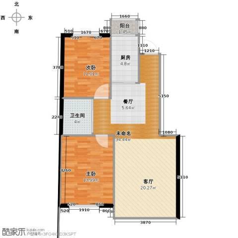 新星宇和邑2室1厅1卫0厨94.00㎡户型图
